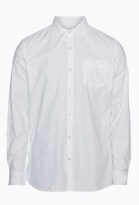 Knowledge Cotton ELDER Classic Stretch Oxford Shirt - Bright White