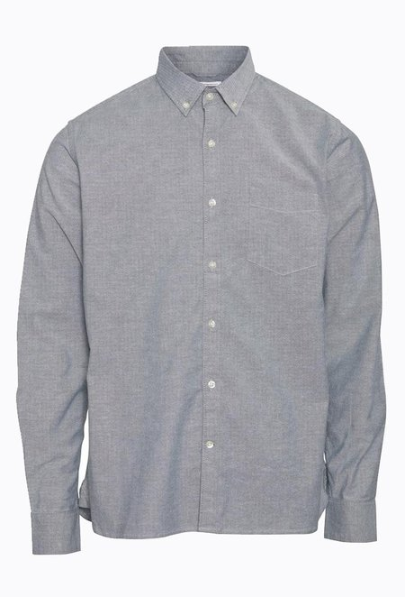 Knowledge Cotton ELDER Classic Stretch Oxford Shirt - Pineneedle