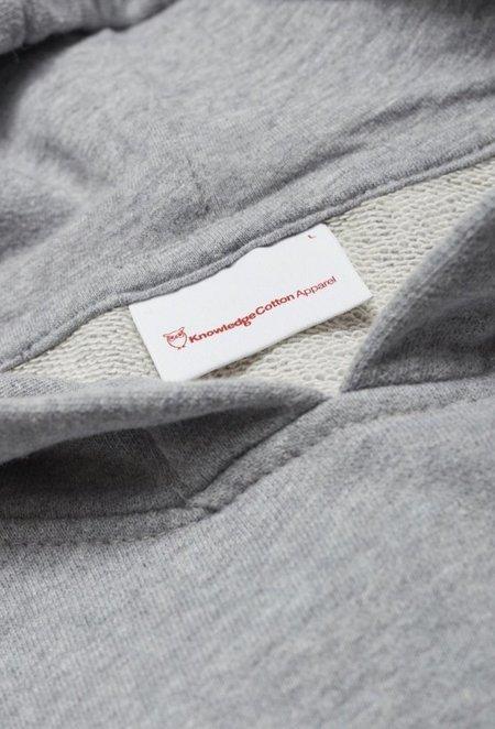 Knowledge Cotton ELM Small Owl Hoodie Sweat - Grey Melange