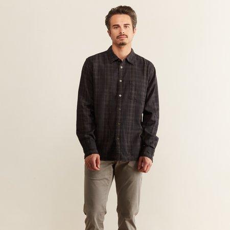 Corridor Dobby Plaid Shirt - Black
