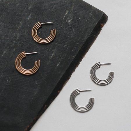Knuckle Kiss Corona Earrings - Sterling Silver