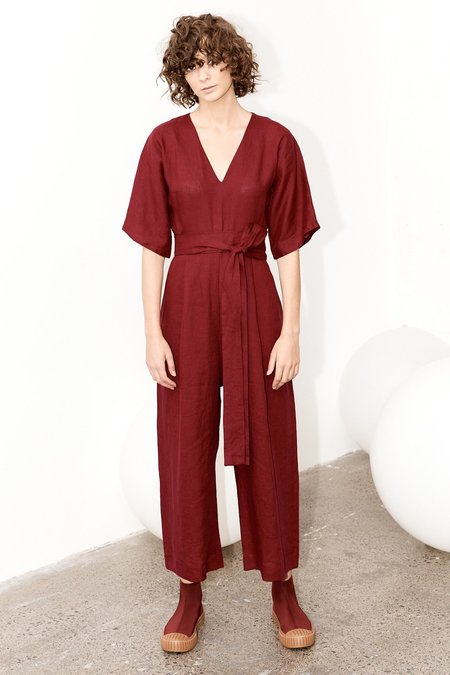Milk & Thistle Willow Jumpsuit - Merlot