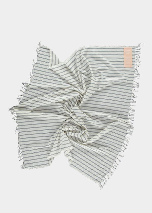 Study NY Blue Stripe Square Scarf
