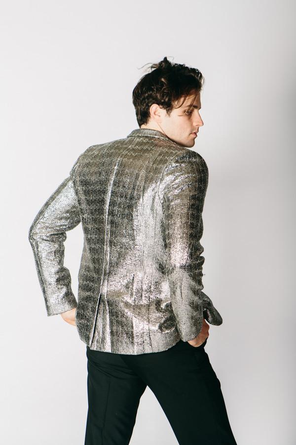 Men's Any Old Iron Silver Metallic Jacket