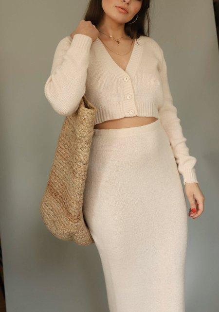 Glamorous Vanilla Knit Midi Skirt