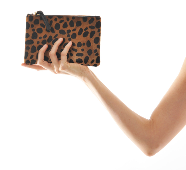 Clare V. Leopard Wallet Clutch