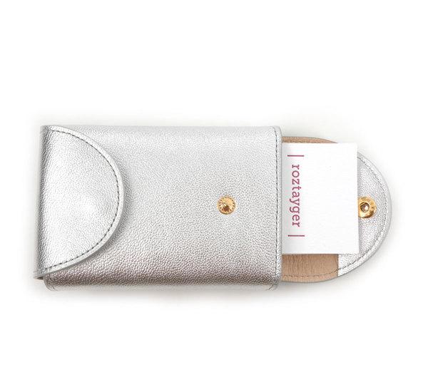 I Ro Se Silver Fold Card Case