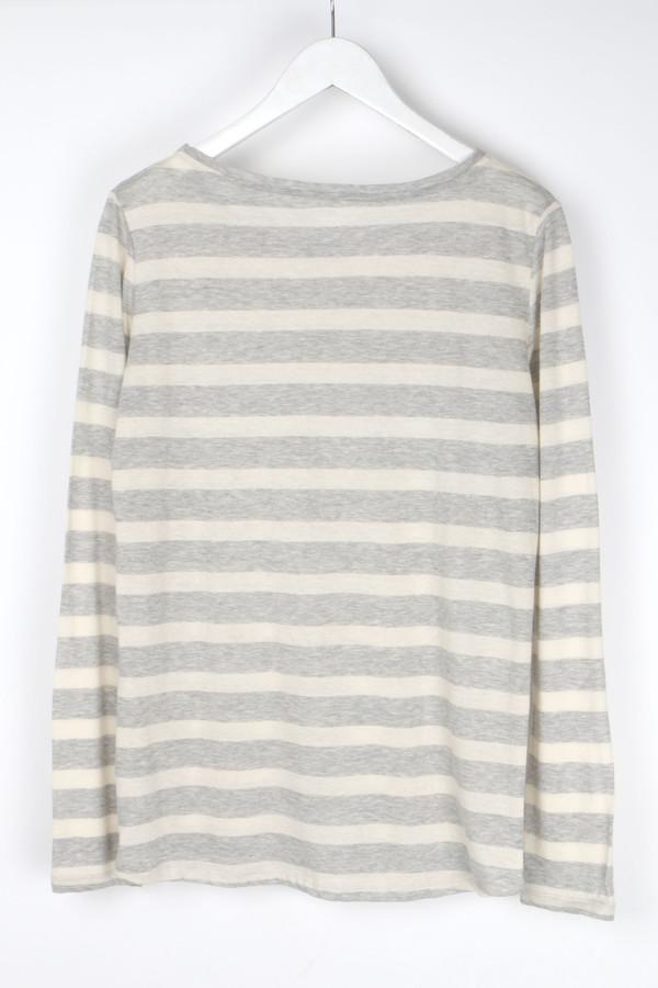 Majestic Stripe Long Sleeve Round Hem