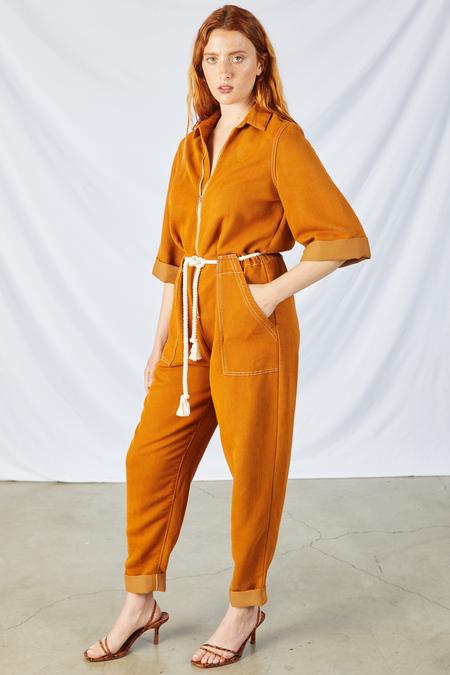 Etica Amelia Flightsuit - Burnt Turmeric