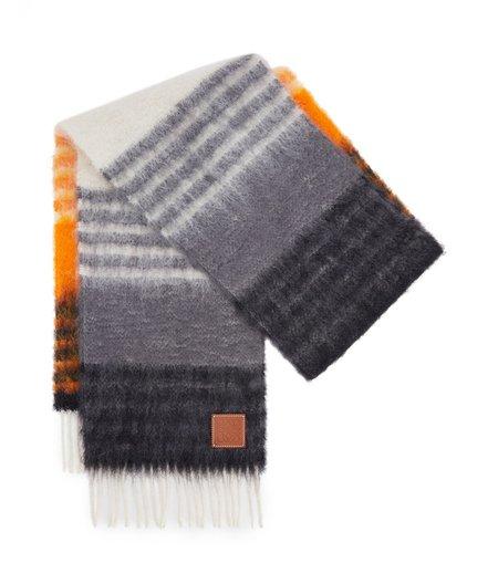 LOEWE Mohair Stripes Scarf - Multicolor / Orange