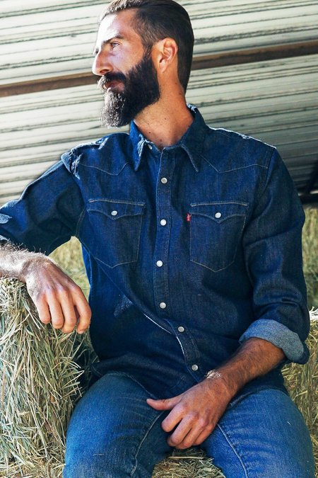 Levi's Barstow Western Shirt - Red Cast Rinse