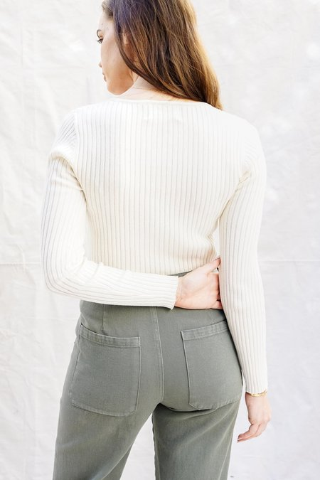Rollas Classic Rib Sweater - Off White