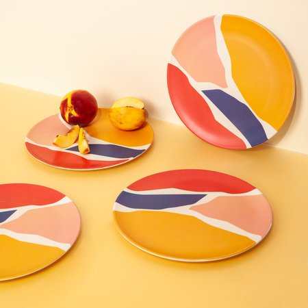 Poketo Bamboo Dinner Plate Set - Fragments