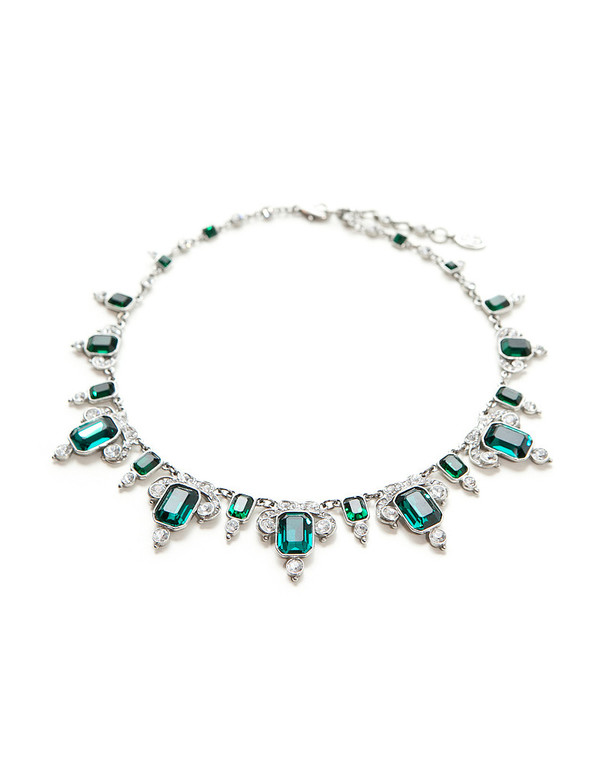 BEN AMUN DECO GREEN NECKLACE