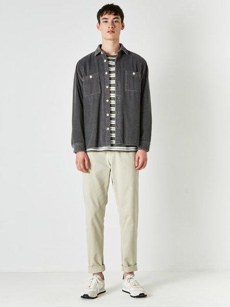 Wax London Big Cord Whiting Shirt - Grey