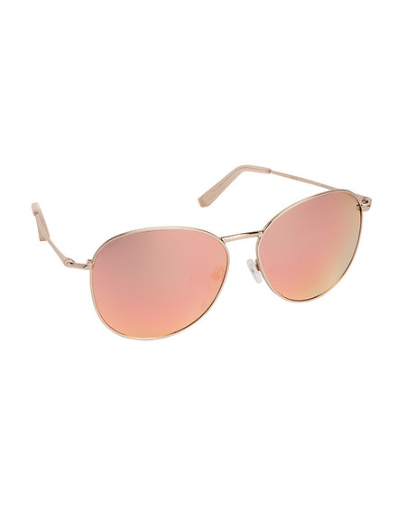 LINDA FARROW X MATTHEW WILLIAMSON LIGHT GOLD ROUNDED AVIATORS