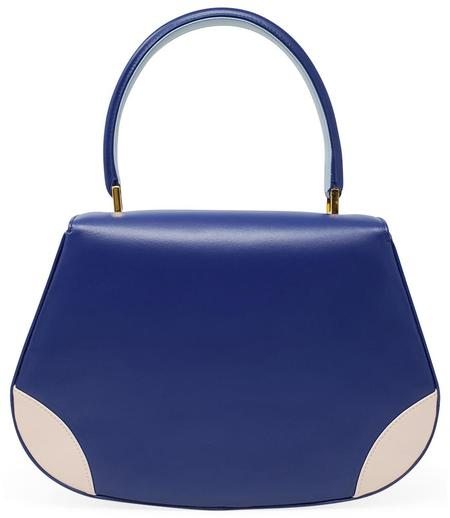 Amato Daniele Plain Leather Handbag - Blue