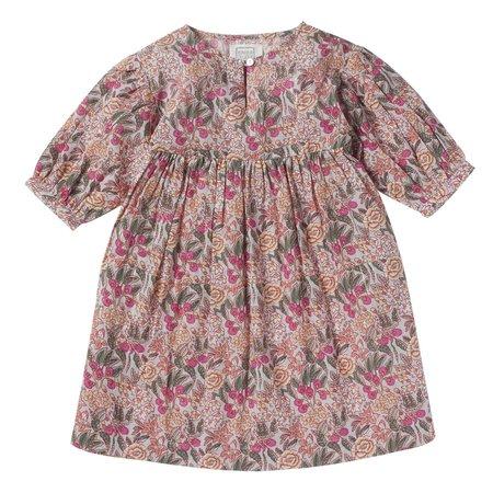 kids bonheur du jour goyave floral dress - pink