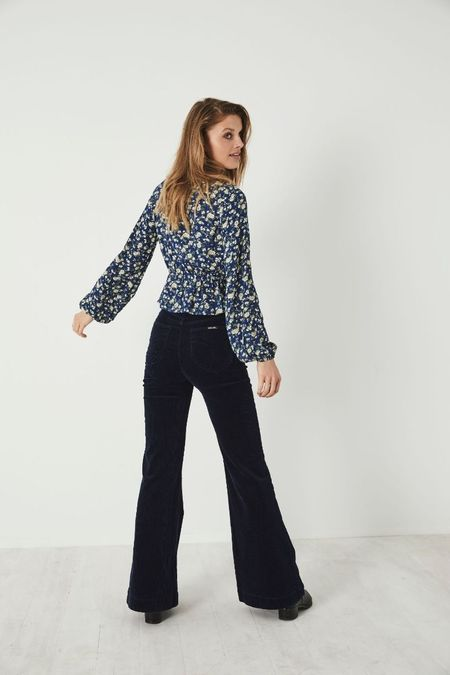 Rollas Ella Rambling Rose Blouse - French Blue