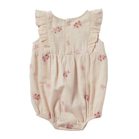 kids bonheur du jour noe romper - pink flowers