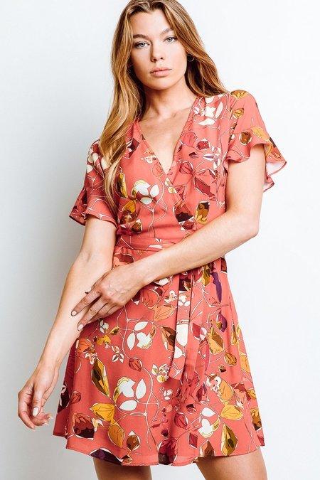 Monte Kate Wrap Dress - Sangria