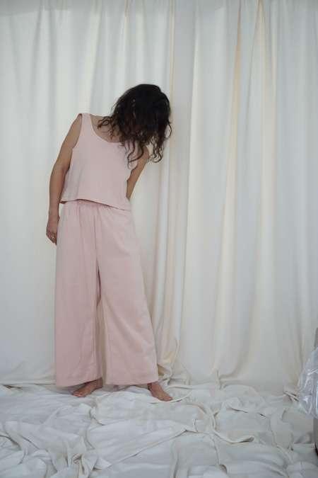 Textilehaus Crop Top - Baby Pink