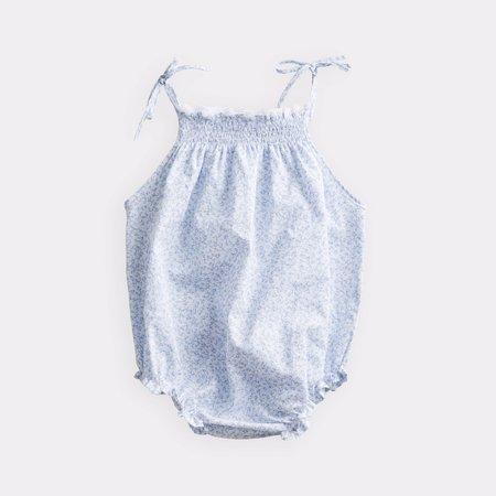 Baby belle enfant ruffle romper - ditsy floral blue