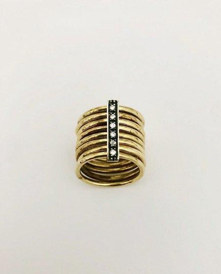 Angostura multi stack ring - Brass/Silver