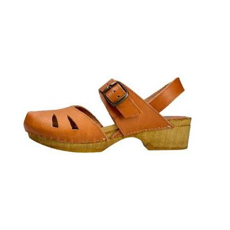 lmdi collection pedraza leather clogs - Camel