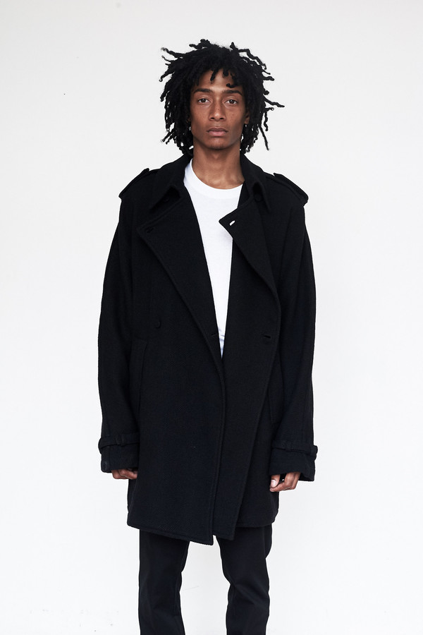 Unisex Assembly New York Wool/Linen Oslo Baggy Trench