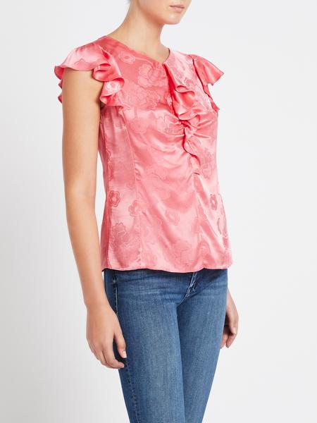 Rebecca Taylor Mimosa Jaquard Top - Pink