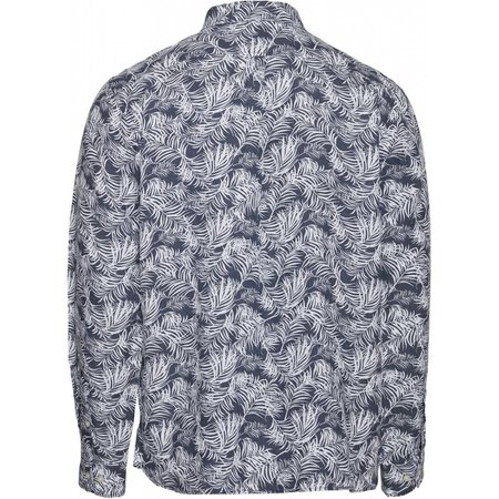 knowledge cotton apparel Linen long sleeve shirt vegan - palm