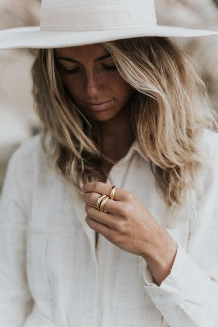 Rauw Jewelry Forged By the Ocean Ring - 24k gold