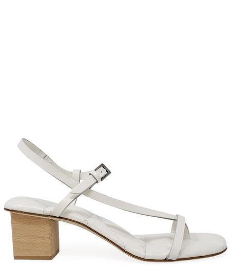 Del Carlo Open Toe Heel - Bianco