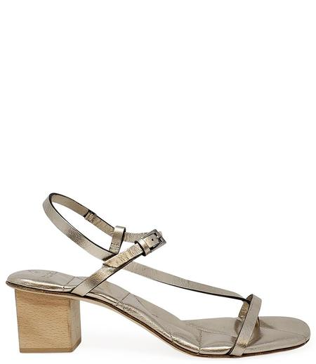 Del Carlo Open Toe Heel - GOLD