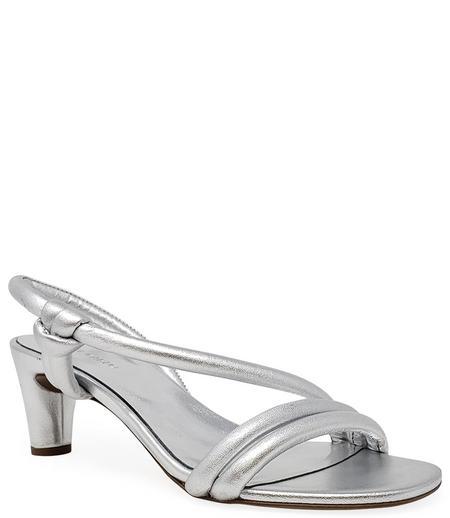Del Carlo Open Toe Heel - Silver