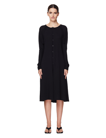 Yohji Yamamoto Black Cotton Dress