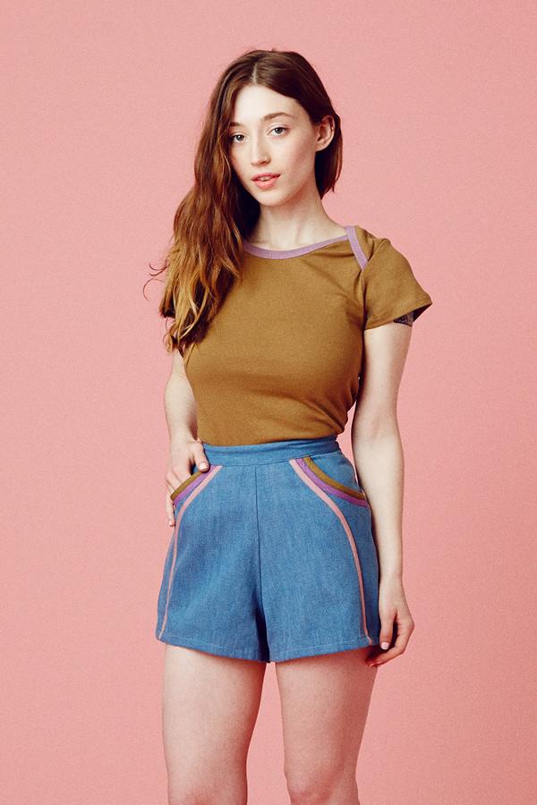 Samantha Pleet Spectrum Shorts - Ultramarine