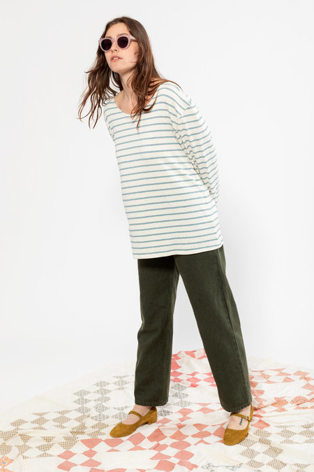 CARLEEN Boatneck Long Sleeve - Deadstock Stripe