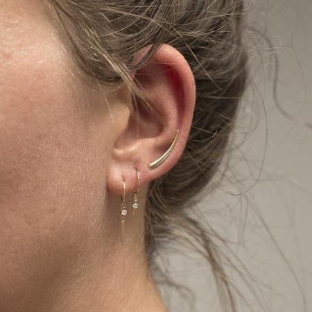 Jack + G Single Loopdie Diamond Earring - 14k Gold