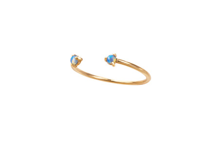 Wwake Two-Step Opal Ring