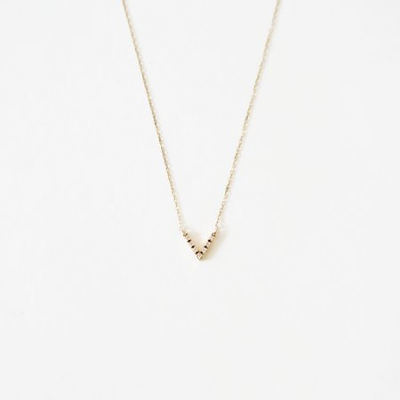 Alchemy Works Vendome Diamond V Necklace - 14K Gold