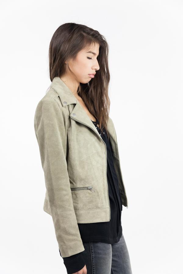 just female Direct Suede Jacket - Litchen Green