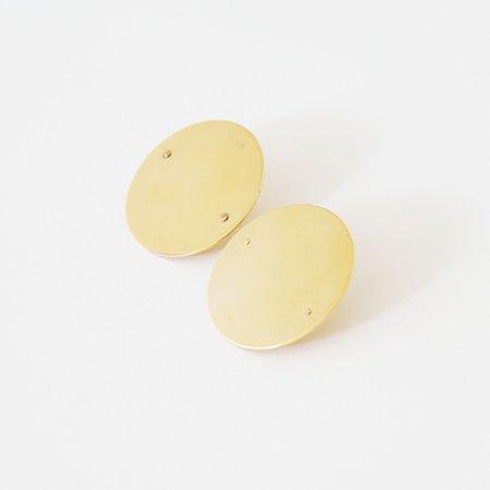 Gabriela Artigas Disc Earrings - Yellow Gold Filled