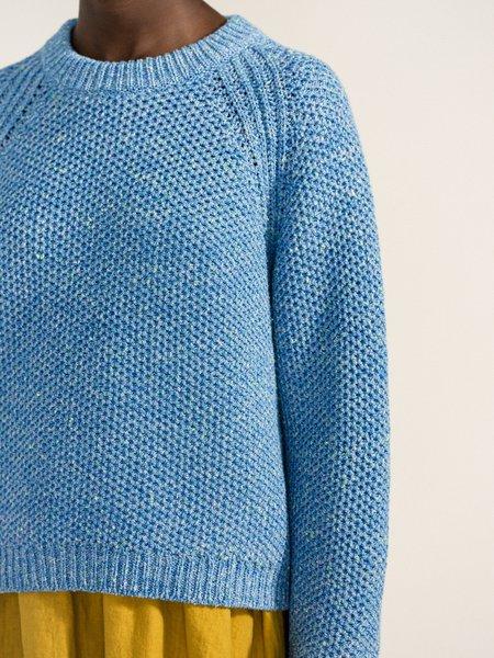 Blue Confetti Cotton Sweater