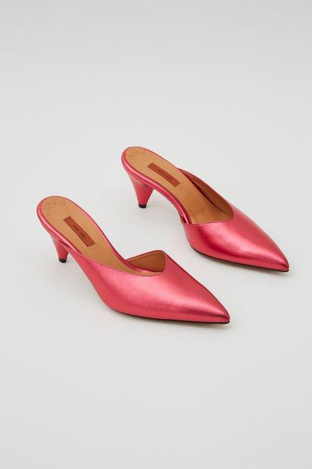 Rachel Comey Fount Mule Kitten Heels - Cherry