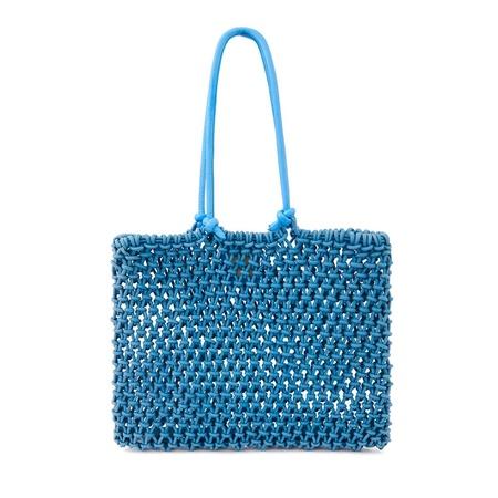 Clare V. Woven Sandy Tote - Cerulean Blue