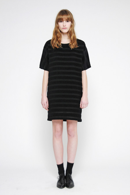 "Diarte ""Arenal"" Textured Stripe Crew Neck Dress"