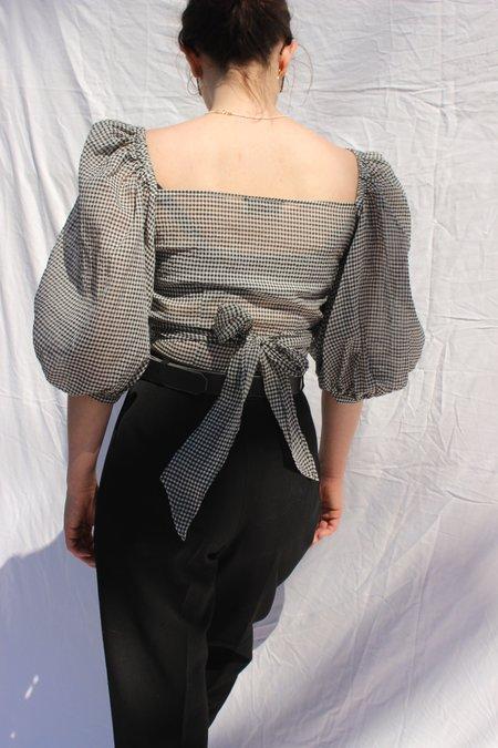 Shaina Mote opal top - black gingham