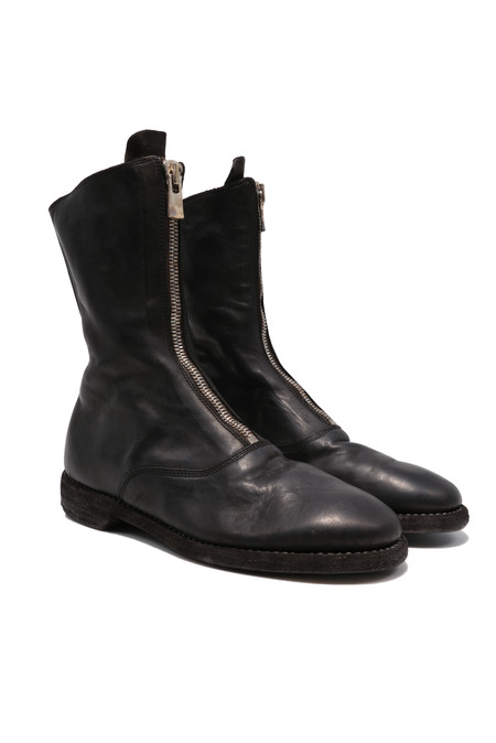GUIDI 310 front zip black boots